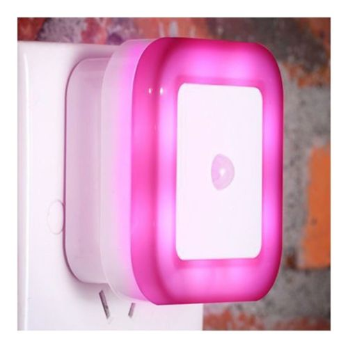 LED Body Induction Sensor Controlled Night Light ABS    Rose red