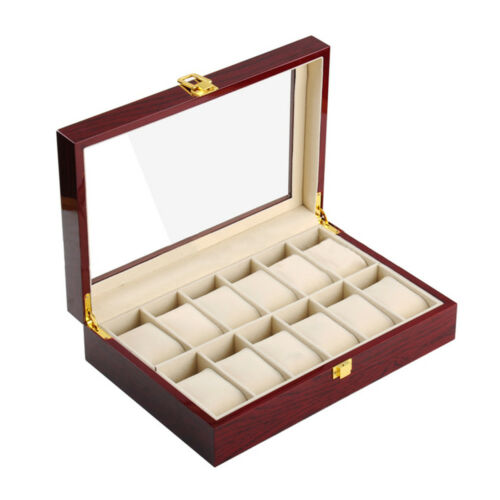 PU Watch Box Multifunctional Watch Storage Box 12 Positions