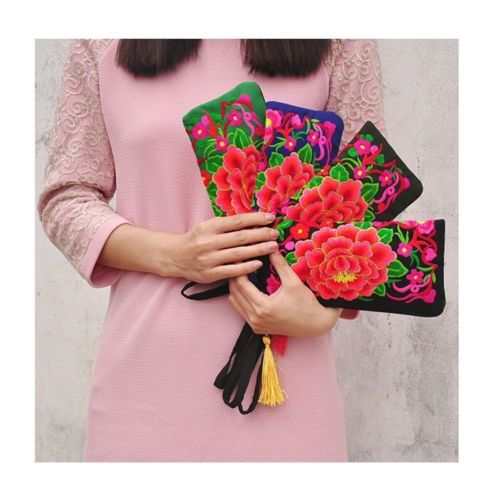Yunnan Embroidery Woman's Bag Handbag Comestic Bag Coin Case Embroidery Handbag