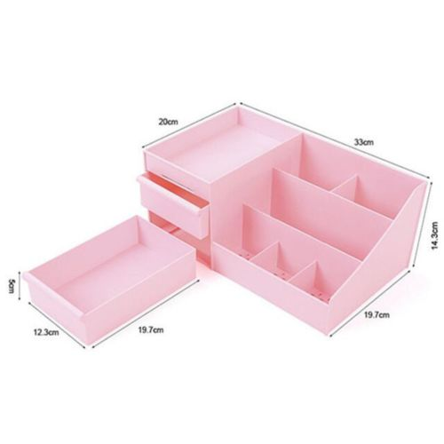 Drawer Type Organizer Comestics Sotrage Box   3127 L blue