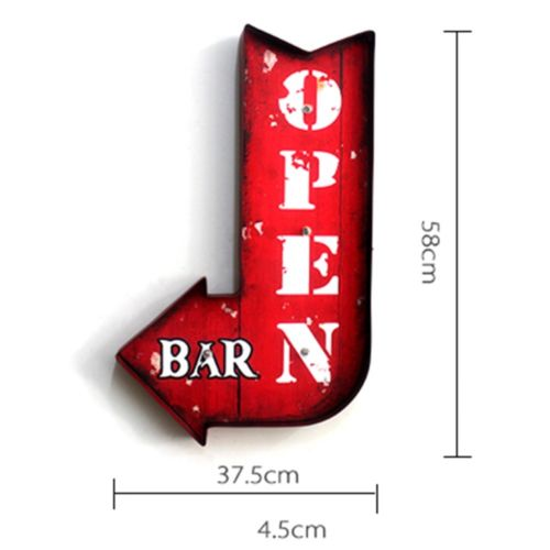 America Village Bar Decoration Wall Hanging   arrow