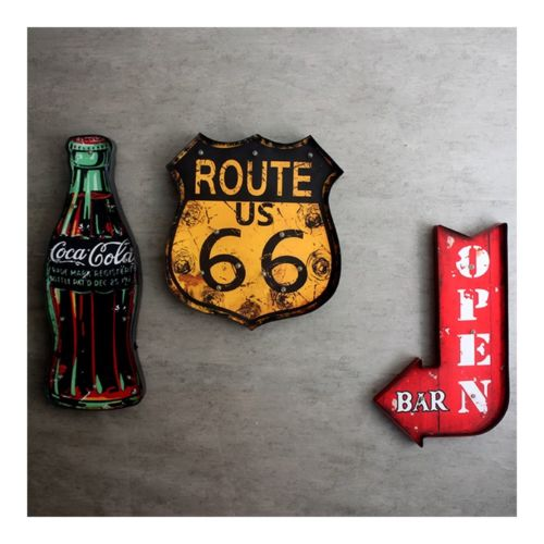 America Village Bar Decoration Wall Hanging   coke bottle