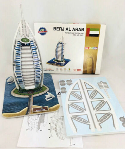 Educational 3D Model Puzzle Jigsaw Burj Al Arab Hotel DIY Toy