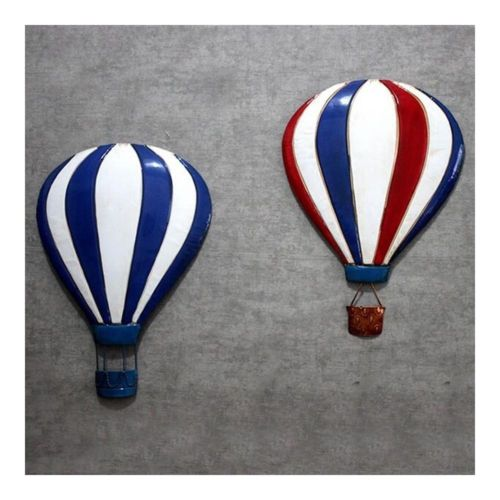 Iron Baloon Wall Hanging Decoration America Village   blue+white