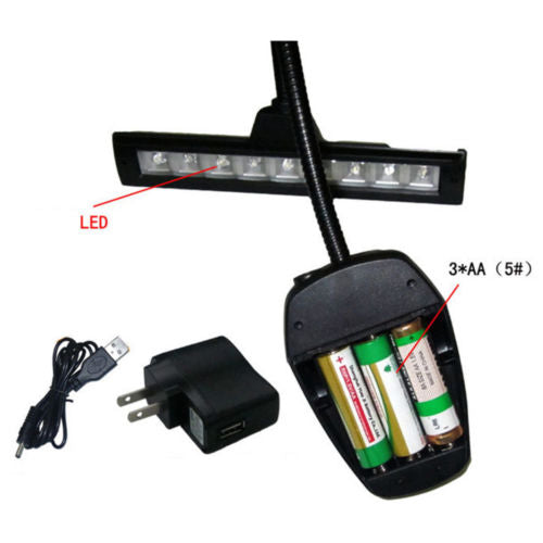 ML-19 Super Wide 9 LED Music Stand Book Light
