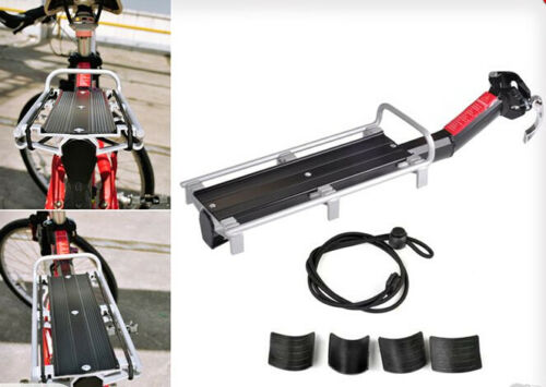 Quick Release Bicycle Mounted Luggage Seat Post Rear Pannier Carrier Rack Fender