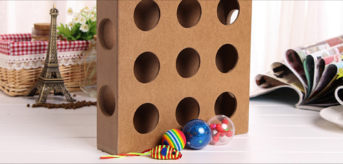 Cat Toys Peek-A-Prize Wooden Interactive Toy Box