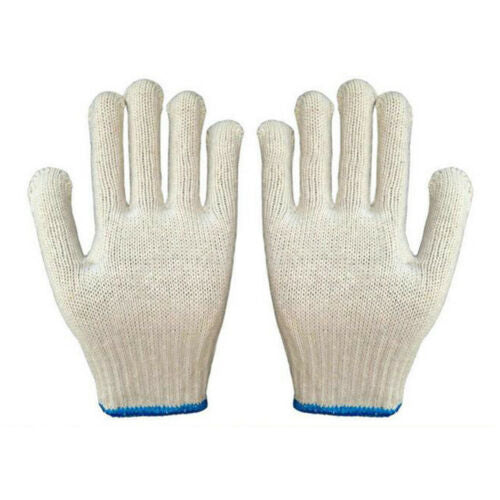 1 pair Work Universal Protection Cotton Yarn Thick Gloves 24cm