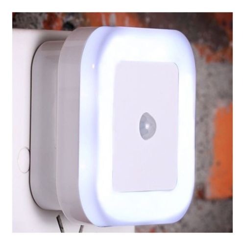 LED Body Induction Sensor Controlled Night Light ABS    White