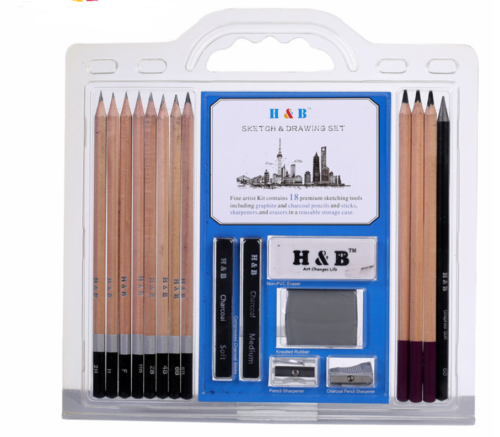 Drawing Sketching Kit Pencils Set 18PCS