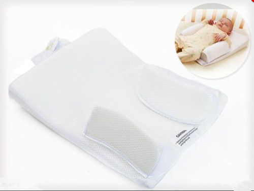 Infant Baby Sleep Positioner Sleep System Crib Prevent Flat Head Infant Pillow