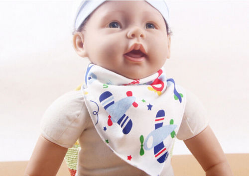 Comfortable Bib Cute Cartoon Feeding Bibs Baby Bibs Triangular scarf Head Scarf