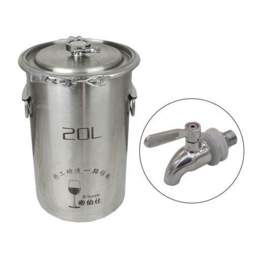 304 Stainless Steel Fermenter Fermentation Barrel Home Brew Wine Beer Fermenters