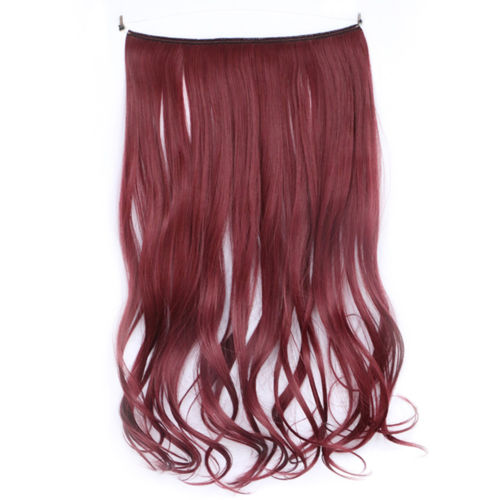 "18"" 45cm Curly Fishing Line 5 clips Hair extension Fashion Party Cosplay"