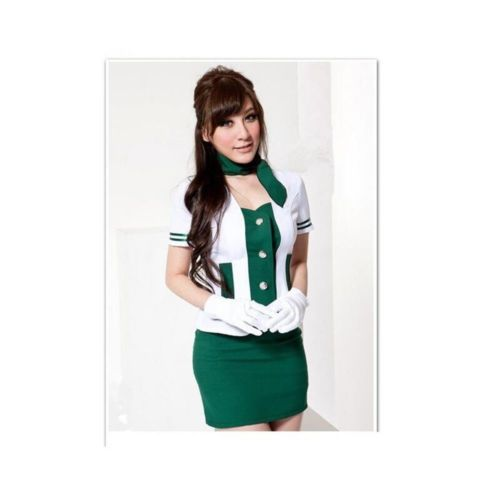 Sweet Air Angel Airline Stewardess Air Hostess Uniform Dress