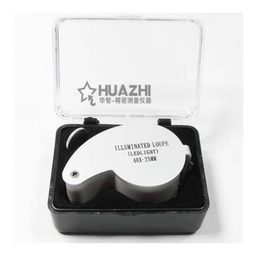 40x25mm Illuminated LED Loupe Jewelers Magnifier with LED Lights