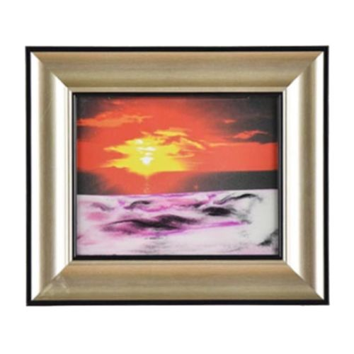 3D Artisitc Moving Sand Glass Art Picture Frame Wall Hanging   dawn-rising sun