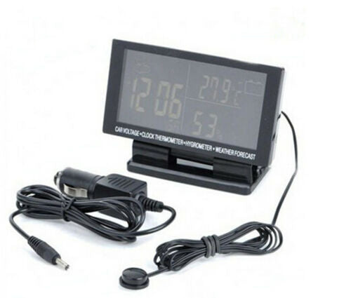 Car Temperature Thermometer LCD Digital Clock