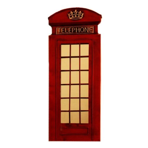 Europe Vintage Red Telephone Booth Bar Wall Hanging Decoration