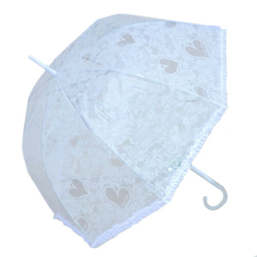 Love Heart Lace Macrame Sunscreen Rain Umbrella