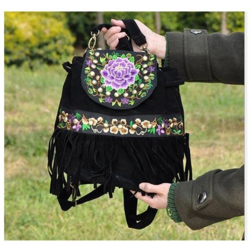 Yunnan Fashionable National Style Ebroidery Bag Stylish Featured Shoulders Bag F