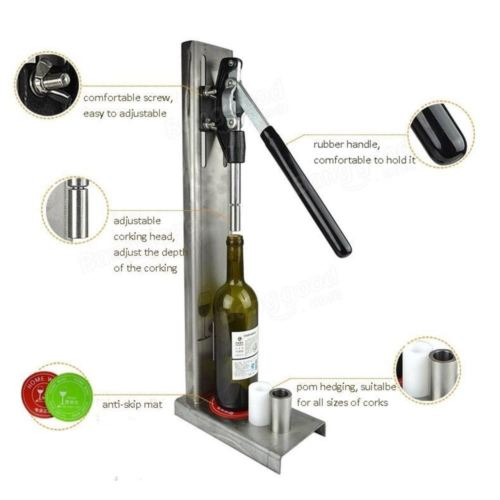 Manual Bottle Corking Machine Home Brew Wine Bottle Cap Pressing Machine 4 POM h