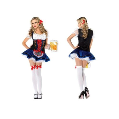 Game Uniform Cosplay Fashionable Maidservant Garment Cute Beer Waitress