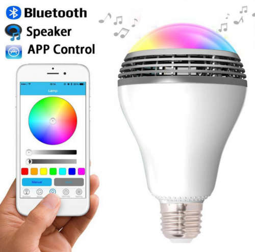 E27 3W Bluetooth Smart LED RGB Bulb Wireless With Audio Speaker Playing Music