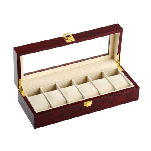 PU Watch Box Multifunctional Watch Storage Box 6 Positions
