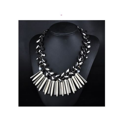 European Big Brand Ornament Exaggerated Alloy Tassel Necklace Exaggerated Woman