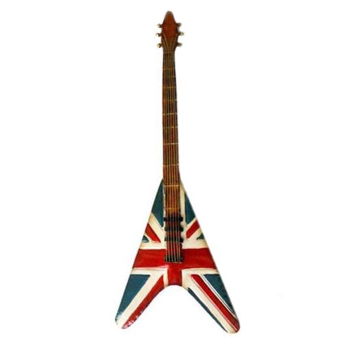 America Vintage Iron Guitar Wall Hanging Decoration   C