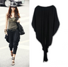 Women's Trendy Black Harem Baggy Pants Trousers