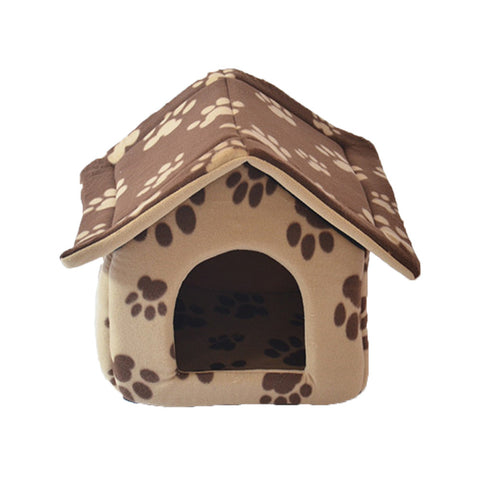 Exports cloth containing mat pet dog house dog kennel washable pet dogs and cats house cat litter Teddy Big Brown - Mega Save Wholesale & Retail - 1