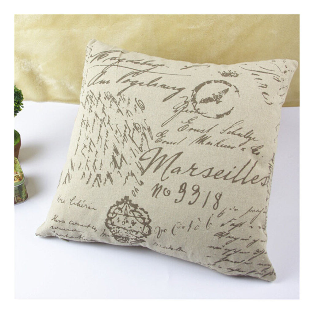 British Printed cotton  pillow cover cushion cover  12 - Mega Save Wholesale & Retail