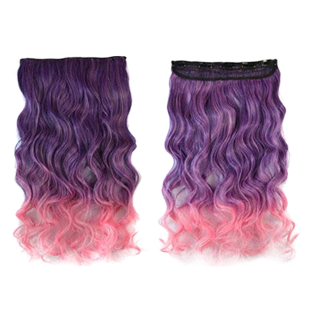 Hair Extension Long Curled Hair Gradient Ramp Wig 12