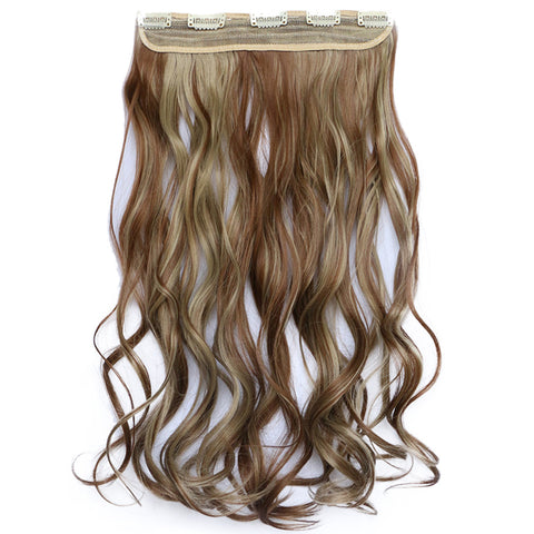 120g One Piece 5 Cards Hair Extension Wig     12H24