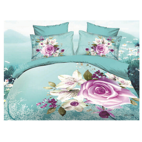 3D Queen King Size Bed Quilt/Duvet Sheet Cover Cotton reactive printing 4pcs  30 - Mega Save Wholesale & Retail