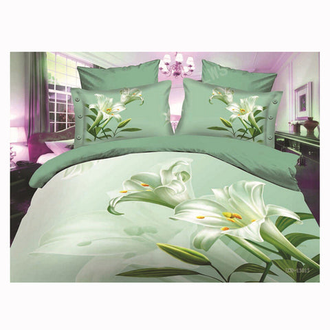 3D Queen King Size Bed Quilt/Duvet Sheet Cover Cotton reactive printing 4pcs  43 - Mega Save Wholesale & Retail