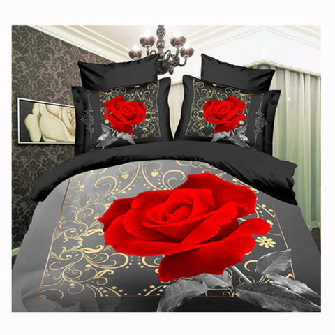 3D Queen King Size Bed Quilt/Duvet Sheet Cover Cotton reactive printing 4pcs  55 - Mega Save Wholesale & Retail