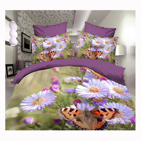 3D Queen King Size Bed Quilt/Duvet Sheet Cover Cotton reactive printing 4pcs  57 - Mega Save Wholesale & Retail