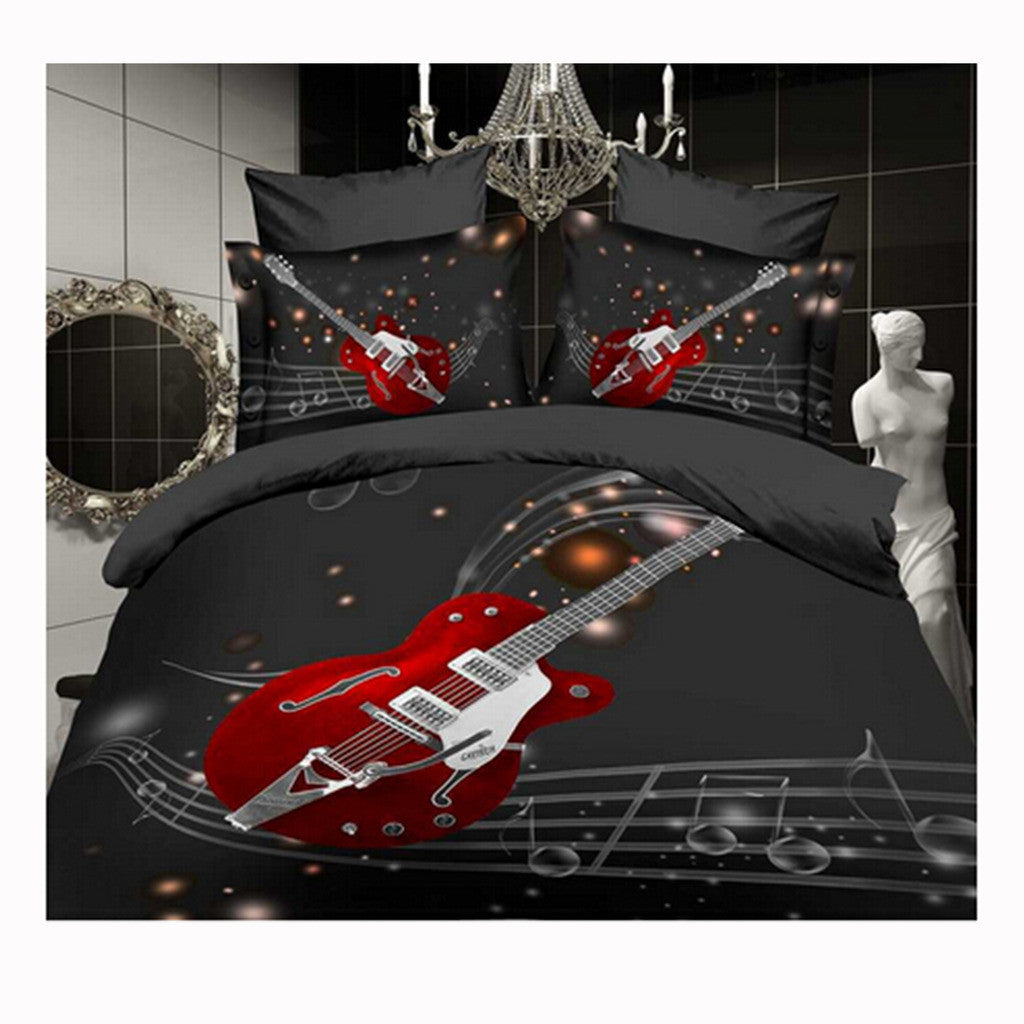 3D Queen King Size Bed Quilt/Duvet Sheet Cover Cotton reactive printing 4pcs  58 - Mega Save Wholesale & Retail
