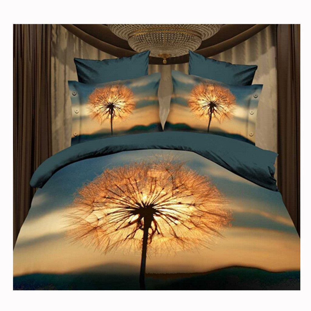 3D Queen King Size Bed Quilt/Duvet Sheet Cover Cotton reactive printing 4pcs  59 - Mega Save Wholesale & Retail