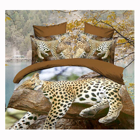 3D Queen King Size Bed Quilt/Duvet Sheet Cover Cotton reactive printing 4pcs  60 - Mega Save Wholesale & Retail