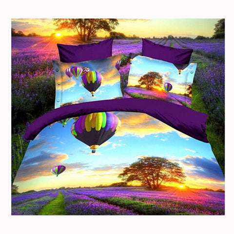 3D Queen King Size Bed Quilt/Duvet Sheet Cover Cotton reactive printing 4pcs  61 - Mega Save Wholesale & Retail