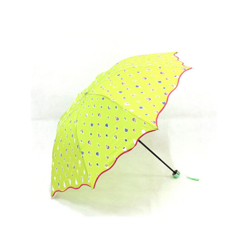 Fashion umbrella Color Changing Water Activated Windproof Princess Folding Umbrella Blue - Mega Save Wholesale & Retail - 2