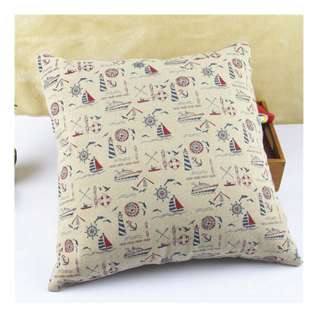 British Printed cotton  pillow cover cushion cover  13 - Mega Save Wholesale & Retail