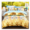 3D Active Printing Bed Quilt Duvet Sheet Cover 4PC Set Upscale Cotton  009 - Mega Save Wholesale & Retail