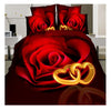 3D Active Printing Bed Quilt Duvet Sheet Cover 4PC Set Upscale Cotton  022 - Mega Save Wholesale & Retail