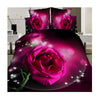 3D Active Printing Bed Quilt Duvet Sheet Cover 4PC Set Upscale Cotton  013 - Mega Save Wholesale & Retail