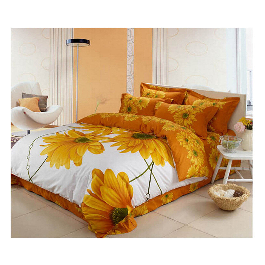 Cotton Active floral printing Quilt Duvet Sheet Cover Sets  Size 15 - Mega Save Wholesale & Retail